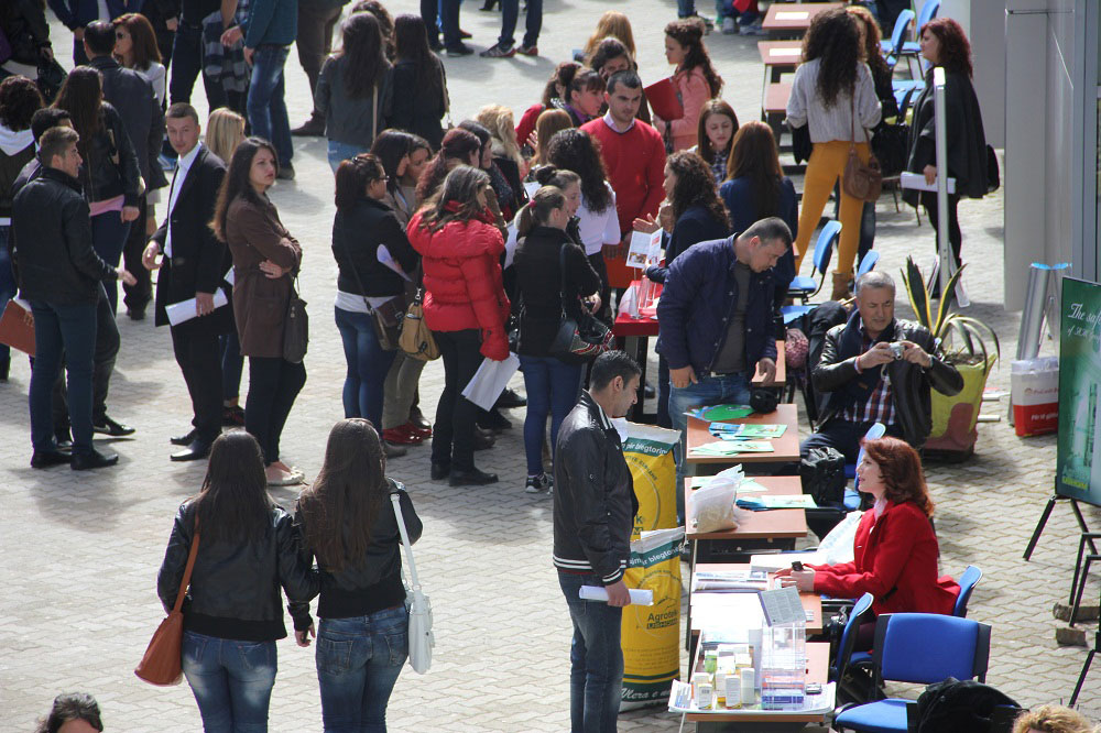 Career Fair 2014 at Agricultural University Tirana